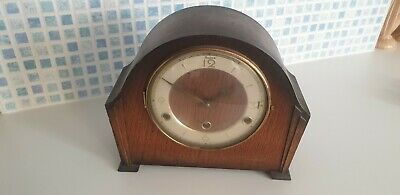 Vintage Wooden Mantel Clock With Perivale Westminster Chime Movement
