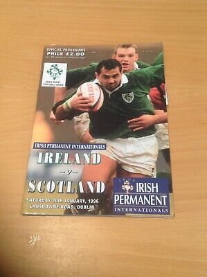 Ireland V Scotland 1996 Rugby Programme And Ticket