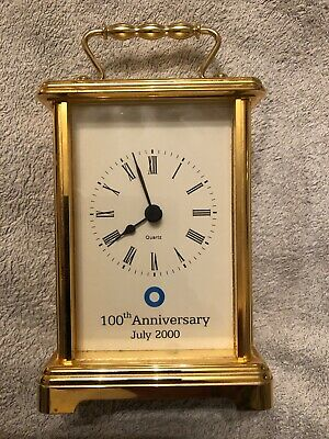 Blue Circle Cement 100th Anniversary Mantle/Carriage Clock
