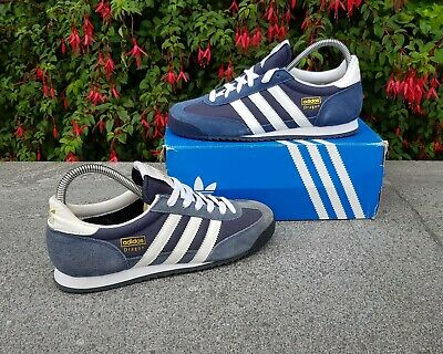 BNWB & Genuine Adidas Originals ® Dragon in New Navy & White Trainers UK Size 6