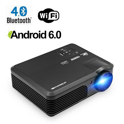 Smart Android 6.0 Projector Home Cinema Bluetooth WIFI Movies Party HD 1080P USB