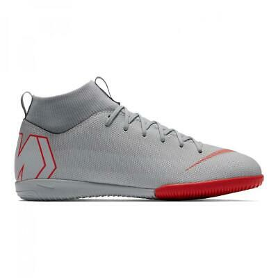 New Nike Mercurial Superfly 6 Academy GS IC Boys Sock Trainers UK 3 to 5.5 Grey