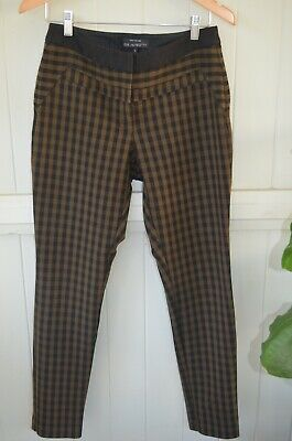 Cue in  the City designer brand size 10 womens check office pants