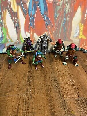 Teenage Mutant Ninja Turtles Movie Action Figures Toys Bundle TMNT X6