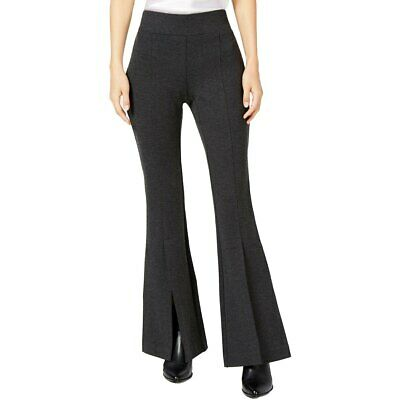 INC International Concepts Womens Slit Flare Pants Heather Gray NEW NWT size 2