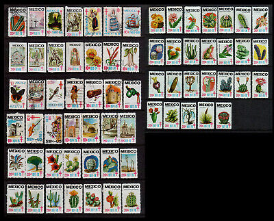 Mexico - Accumulation of 68 Anti-tuberculosis Cinderella Stamps both Mint & Used