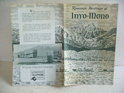 1950s Romantic Heritage of INYO-MONO~A Saga of the Old West (California)