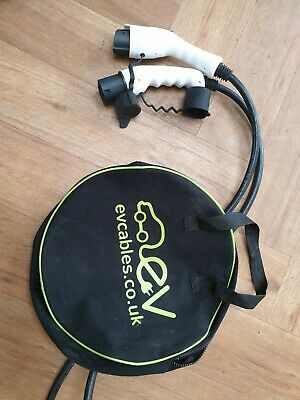 EV Charging Cable 10 meters Type 2 to Type 1 & Bag - Mitsubishi Outlander PHEV