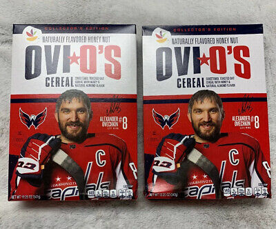 2 Boxes Alex Ovechkin OVI O'S Cereal Washington Capitals IN HAND Ships Today!