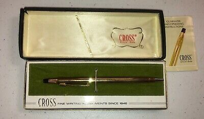 Cross Ball Pen 10kt Gold Filled  No. 4502 w/ Box & Booklet Old Stock l2