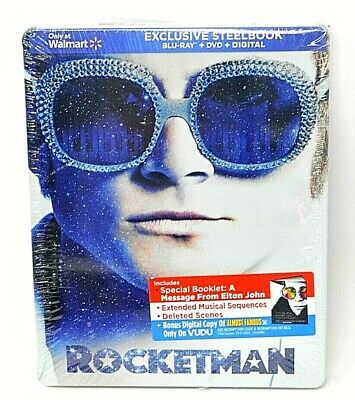 RocketMan (Steelbook, Blu-ray, DVD, Digital, 2019) Elton John - New - Sealed