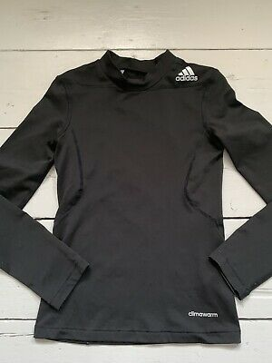 Boys Youths Adidas Base Layer Top Skin 9/10 Exc Cond Heat Tech Techfit
