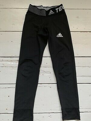 Boys Youths Adidas Base Layer Trousers Tights Bottoms Techfit Exc Cond 9/10