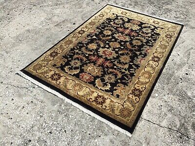 4X6 Hand Knotted Indian Rug (free Shipping)
