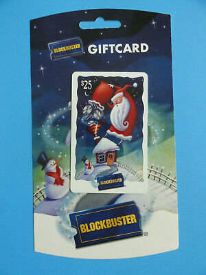 Blockbuster Video Santa Claus Gift Card Original From 2005 - New -No Value