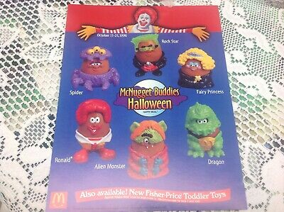 McDonald's Happy Meal 1996 Halloween McNugget Buddies Toys Complete Set of 6 NEW