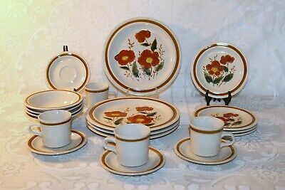 JCPenney WOODLANDS Stoneware Made in Japan 20 Pc Set 5 Pc Plc Set Service for 4