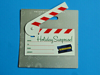 Blockbuster Video Christmas Clapperboard Gift Card Original 2008 New *No Value