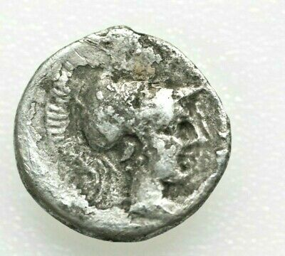 PAMPHYLIA, Side. Circa 4th Century BC. AR Obol 0.64gr;11mm . Head of lion left /
