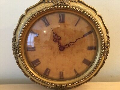 Spares/Repair A  Vintage Wall Clock Key Wind V.g.c, Well Worth Repairing