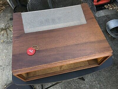 Fisher 400 Wood Case Original Tube Amp Walnut Wooden Cabinet Box