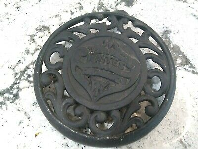 Antique White's Stove and Ranges Trivet Stove Plate Cast Iron