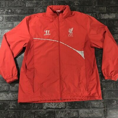 Liverpool Fc Training Jacket XXL Official Warrior Red Track Top Fold Away Hood