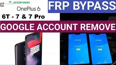 Remote Google Account Removal Service FRP Reset OnePlus 3 /3T /5 /5T / 6/ 6T/