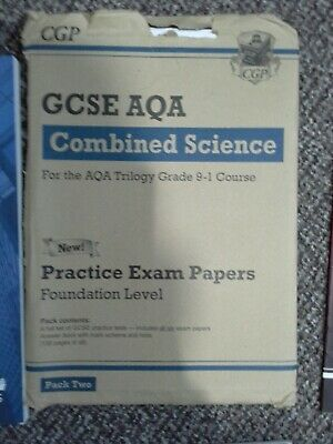 Aqa gcse combined science trilogy 1-9 Foundation Level practise papers
