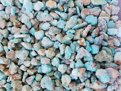 blue rough chalk turquoise small nuggets  (by the pound)