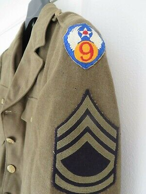 Vtg WW2 US Army Air Corps 9th Air Force Dress Jacket 38R Air Force Engineering