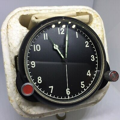 ☭ NOS. POLAR-ARCTIC AirForce Cockpit Clock 124CS/124ChS for Russian MiG/Su jet
