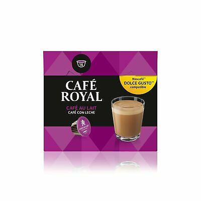 Café Royal Café Au Lait Coffee Pods Compatible with The Nescafé Dolce Gusto S...