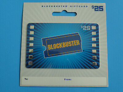 Blockbuster Video $25 Gift Card On Backer- Original From 2010 - New -No Value