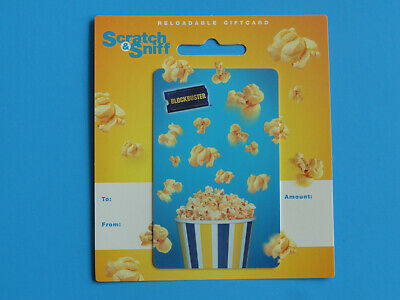 Blockbuster Video Scratch & Sniff Gift Card New On Backer- From 2010 -No Value