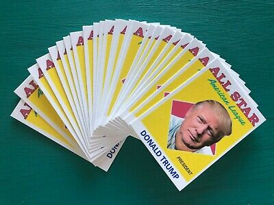 (25) DONALD TRUMP American League All Star President Baseball Cards - Dealer Lot