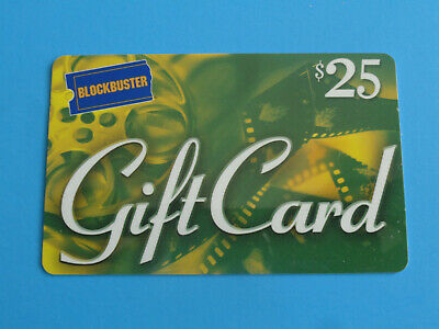 Vintage Blockbuster Video Gift Card 2000 - Green $25-  -No Value On Card-