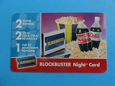 Blockbuster Video Gift Card From 2008 - Coca-Cola  -No Value On Card-