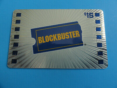 Blockbuster Video Gift Card From 2008 - Silver W/Ticket $15  -No Value On Card-