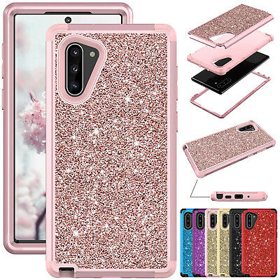For Samsung Galaxy Note 10 Plus Rugged Bling Shockproof Hybrid Armor Case Cover
