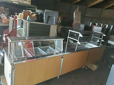 Serving line with Sneeze Guards Cold and Hot