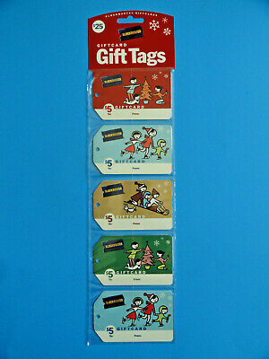 Blockbuster Video Christmas Gift Card/Tags (5) All New -2005 (No Value On Cards)