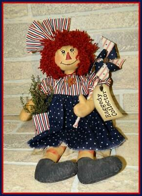 Boutique Hand Made Raggedy Ann Doll Collector Item 16""