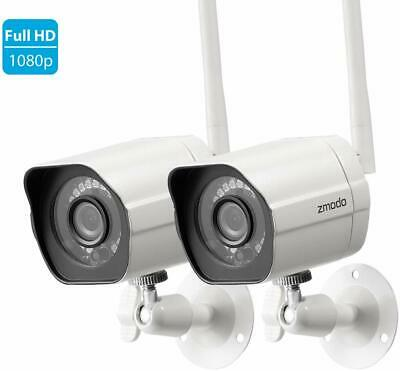 Zmodo 1080p Wireless Home Security Camera System (2 Pack) Indoor Outdoor IR Cam