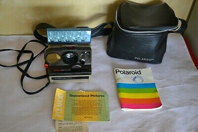 Vintage  Polaroid PolaSonic AutoFocus 4000 Land Camera with Flash & Bag