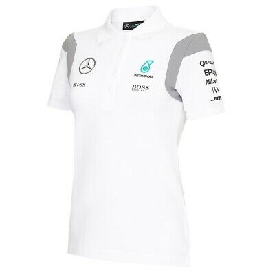 POLO Poloshirt ladies Formula One 1 Mercedes AMG Petronas F1 Team NEW White XS