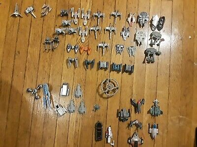 Star Wars, Star Trek And Others Galoob Micro Machines Lot Of 50 Vehicles