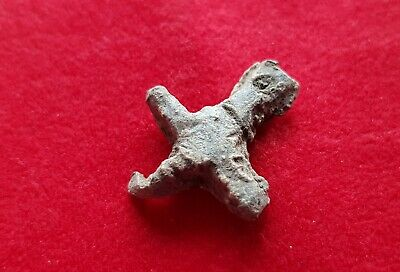 Early Christian  Roman / Byzantine Lead Cross - Circa Iv / V Century Ad.
