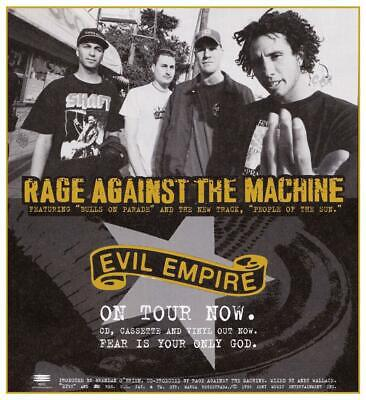 Rage Against the Machine - LARGE POSTER - Evil Empire promo ad