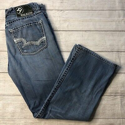 BIG STAR MENS Jeans Size 33 Pioneer Boot Blue $59.99